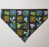 Cartoon Dog Squares Over-the-Collar Pet Bandana