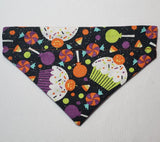 Halloween Glitter Cupcakes Over-the-Collar Pet Bandana