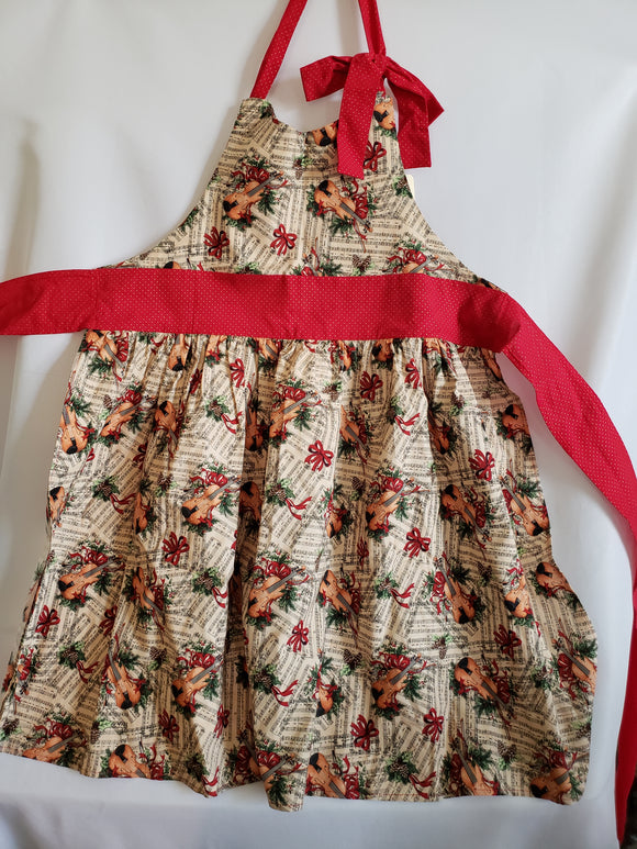 Christmas Music Apron