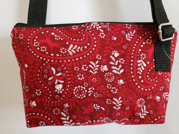 Red Bandana Dog Silhouette Crossbody Bag