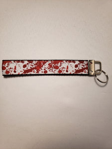 Blood Spatter on White Key Fob