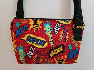 Comic Bubbles Red Crossbody Bag