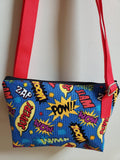 Comic Bubbles Blue Crossbody Bag