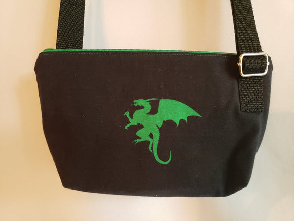 Dragon in Green Crossbody Bag