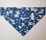 Patriotic Dogs Over-the-Collar Pet Bandana