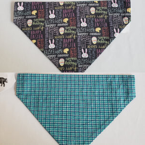 Easter & Plaid Over-the-Collar Pet Bandana