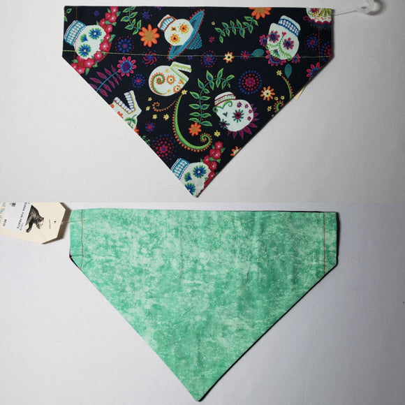 Floral Sugar Skulls Over-the-Collar Pet Bandana