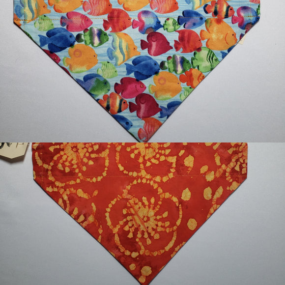 Tropical Fish Over-the-Collar Pet Bandana
