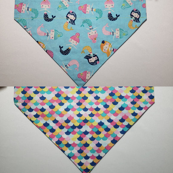 Mermaids Over-the-Collar Pet Bandana