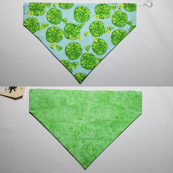 Lime Slices Over-the-Collar Pet Bandana