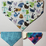 Cartoon Dog Names Over-the-Collar Pet Bandana