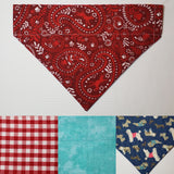 Red Dog Bandana Print Over-the-Collar Pet Bandana