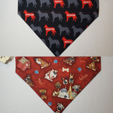 Adopt / Rescue on Black Over-the-Collar Pet Bandana