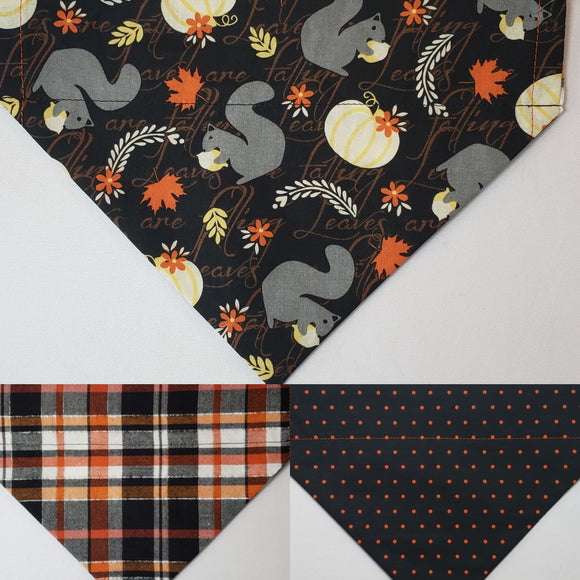 Squirrels Over-the-Collar Pet Bandana