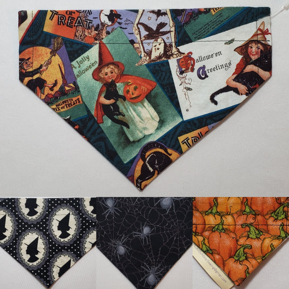 Vintage Witch Over-the-Collar Pet Bandana