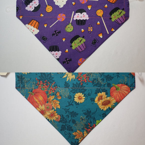 Halloween Glitter Monster Cupcakes Over-the-Collar Pet Bandana