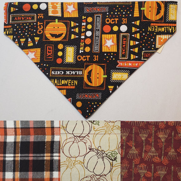 Halloween Glitter Cutesy Things Over-the-Collar Pet Bandana