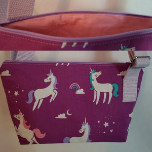 Cartoon Unicorns Crossbody Bag