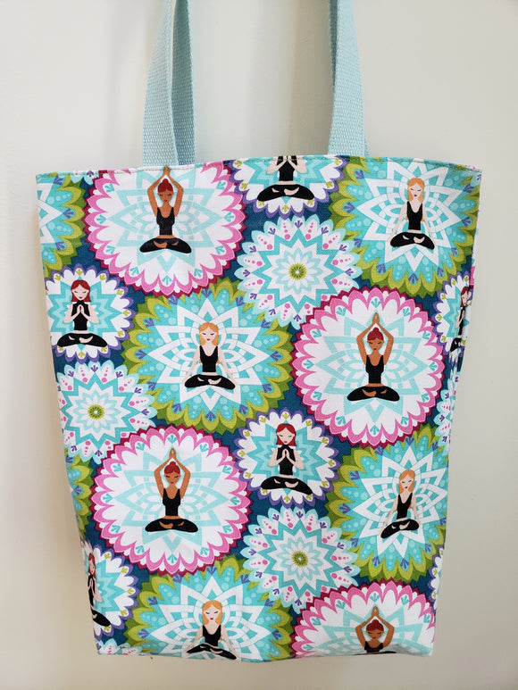 Yoga Ladies & Mandalas Tote Bag