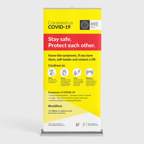 Covid 19 Pull Up Banner