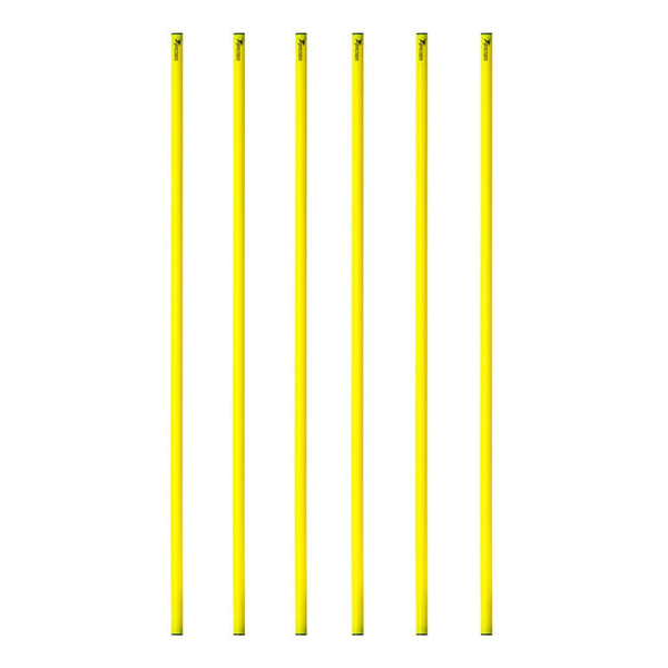 Precision 100cm Poles ( for Giant Space Markers ) Set of 6 - Yellow