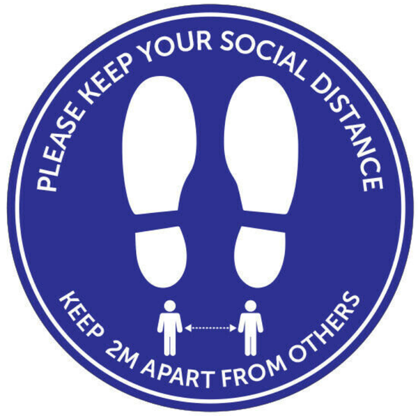 10 Pack - Social Distancing Floor Graphic