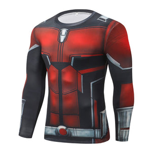 Ant Man Long Sleeve Compression Fitness Tee