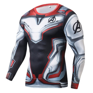 Avengers Endgame Long Sleeve Compression Fitness Tee