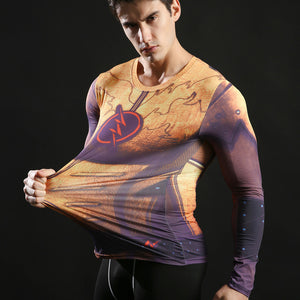 Flash Long Sleeve Compression Fitness Tee