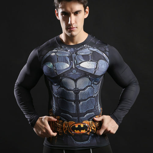Batman Long Sleeve Compression Fitness Tee