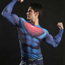 Load image into Gallery viewer, Superman Long Sleeve Compression Fitness Tee