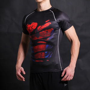 "Spiderman Black ""Hidden Hero"" Short Sleeve Fitness Tee"