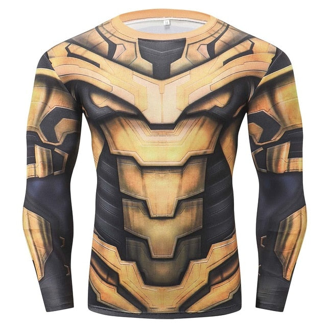 Thanos Long Sleeve Compression Fitness Tee