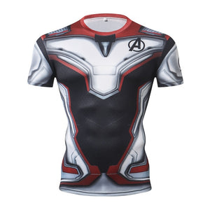 Avengers Endgame Short Sleeve Compression Fitness Tee