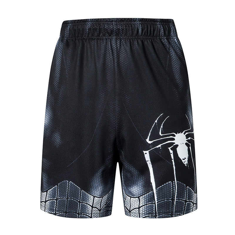 Dark Spiderman Casual Men's Gym Shorts