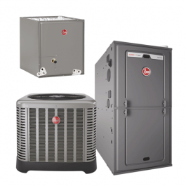 Rheem 3 Ton 16 Seer 75K 80% Variable Speed Gas System, Rheem A/C and Natural Gas System - Comfort Depot Gaithersburg