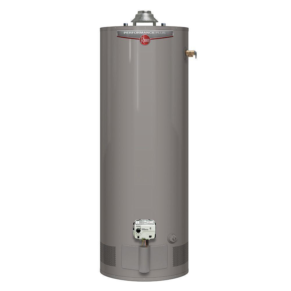 Rheem Performance Plus 50 Gal. Tall 9 Year Natural Gas Water Heater, Rheem Water Heater - Comfort Depot Gaithersburg