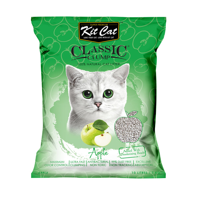 Kit Cat Classic Clump Cat Litter 10L (Apple)