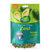 "Load image into Gallery viewer, [Bundle of 3] Happi Doggy Dental Chew Zest Petite Avocado 2.5"" (150g/pkt)"