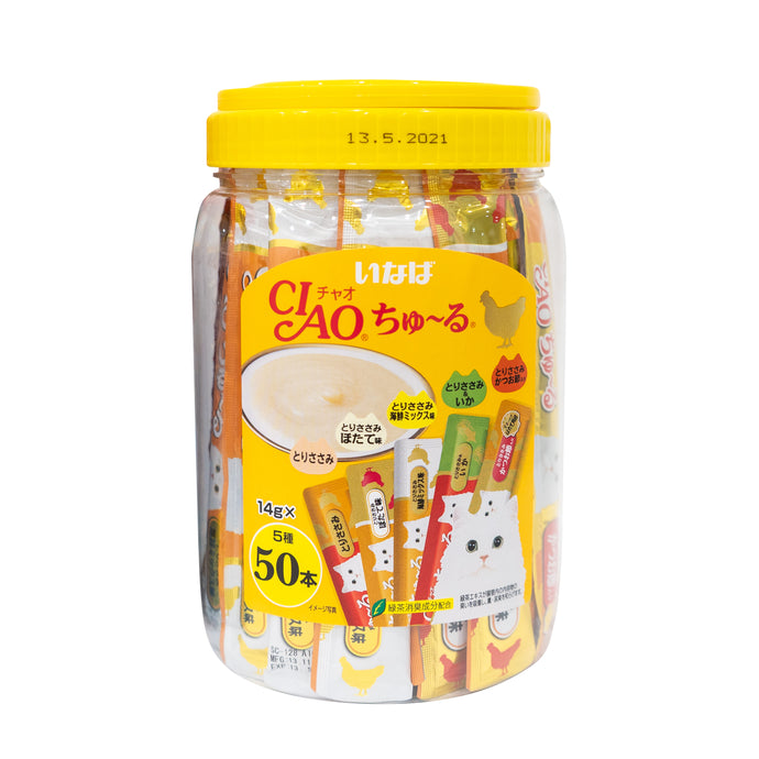 Ciao Chu Ru Chicken Mix Festive Pack 14g (5 Flavours x 10pcs)
