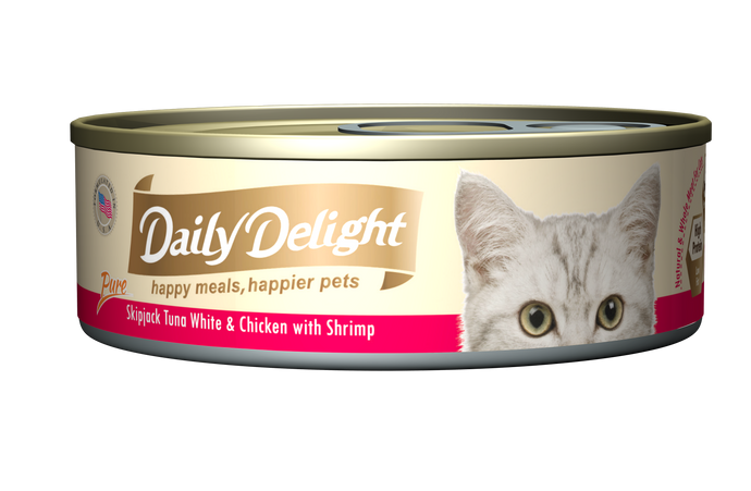 Daily Delight Pure Skipjack Tuna White & Chicken With Shrimp (80g)