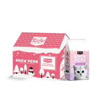 Load image into Gallery viewer, [Bundle of 2] Kit Cat Snow Peas Antibacterial Clumping Cat Litter 7L (Floral Mix)