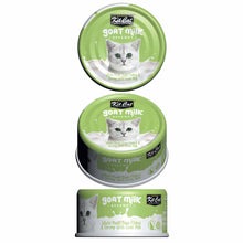 Load image into Gallery viewer, Kit Cat Goat Milk Gourmet White Meat Tuna Flakes & Shrimp (70g)