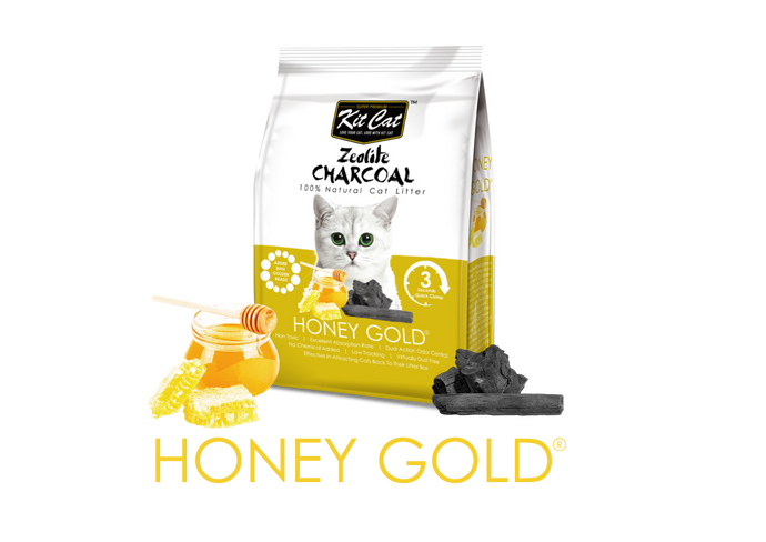 Kit Cat Zeolite Charcoal Cat Litter (4kg) - Honey Gold