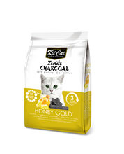 Load image into Gallery viewer, Kit Cat Zeolite Charcoal Cat Litter (4kg) - Honey Gold