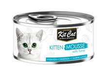 Load image into Gallery viewer, Kit Cat Kitten Mousse with Tuna Toppers Cat Food (80g)