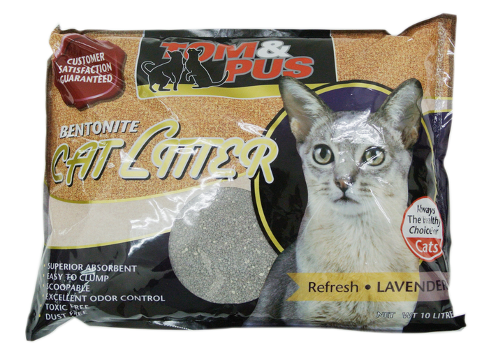 Tom & Pus Bentonite Litter 10L - Lavender