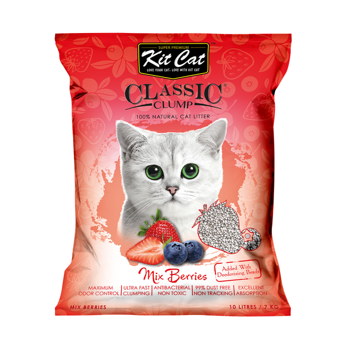 Kit Cat Classic Clump Cat Litter 10L (Mix Berry)
