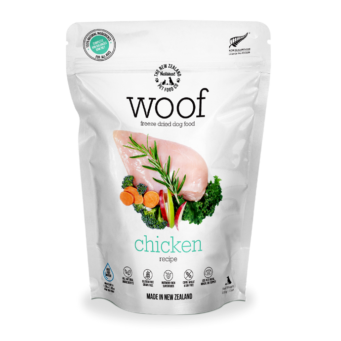 WOOF Freeze Dried Raw Chicken Dog Food (2 Sizes) 1