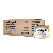 Load image into Gallery viewer, Solid Gold Indigo Moon Mackerel & Tuna In Gravy Canned Cat Food (170g)